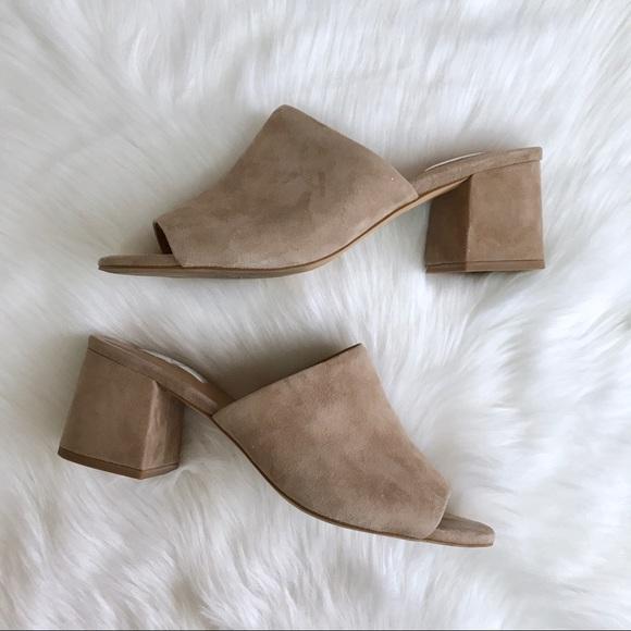 9ae4bf22280b Halogen Shoes - Halogen Freda Suede Nude Slide Sandals